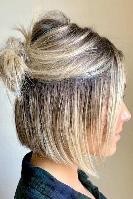 Short Bun Thin Hairstyles