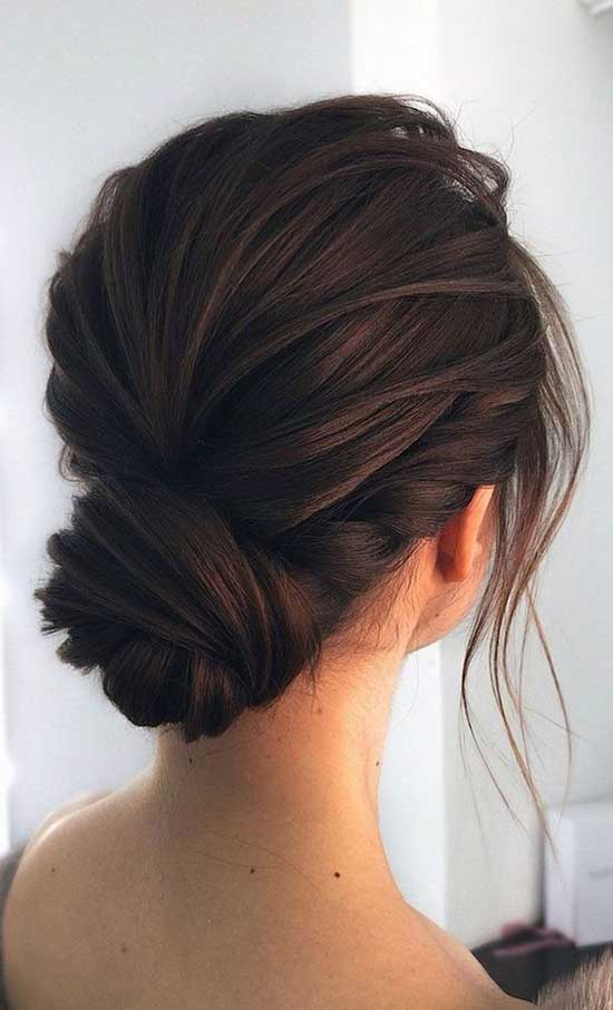 Short Bun Wedding Hairstyles