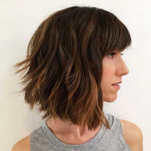 Shoulder Length Bob Haircuts for Thick Hair