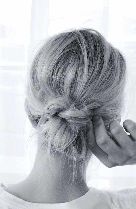 Simple Short Bun Hairstyles