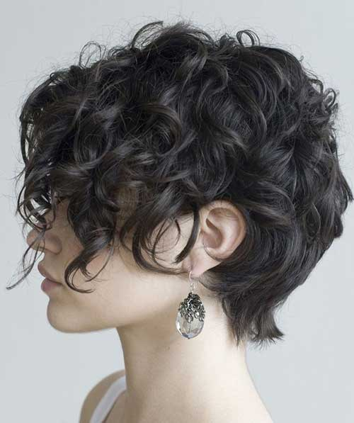 Short Haircuts for Thick Curly Hair-13