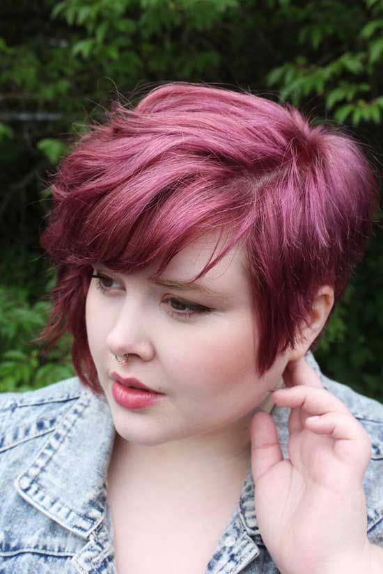 Trendy Short Hairstyles for Fat Girls-15