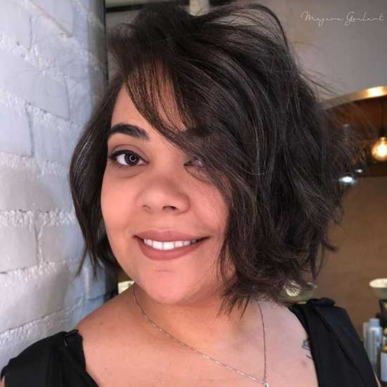 Short Messy Hairstyles for Fat Girls-18