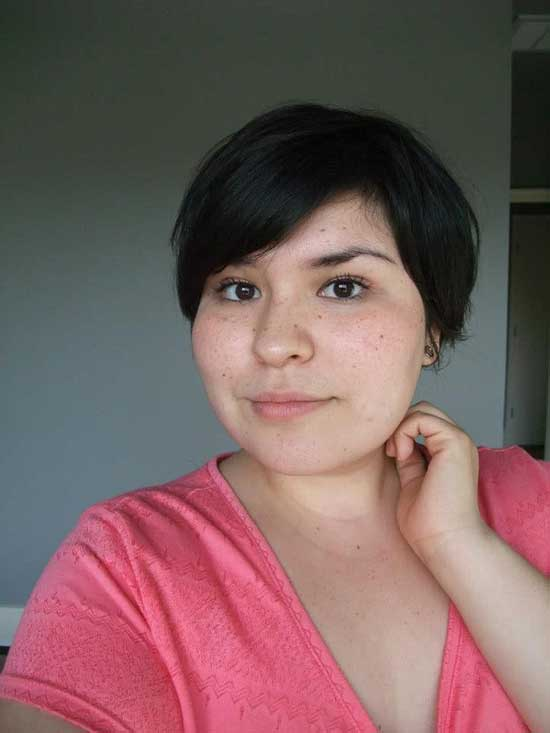 Short Thin Hairstyles for Fat Girls-21