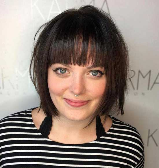 Short Bob Hairstyles for Fat Girls-6
