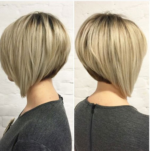 Short Graduated Bob Haircuts for Thick Hair-6