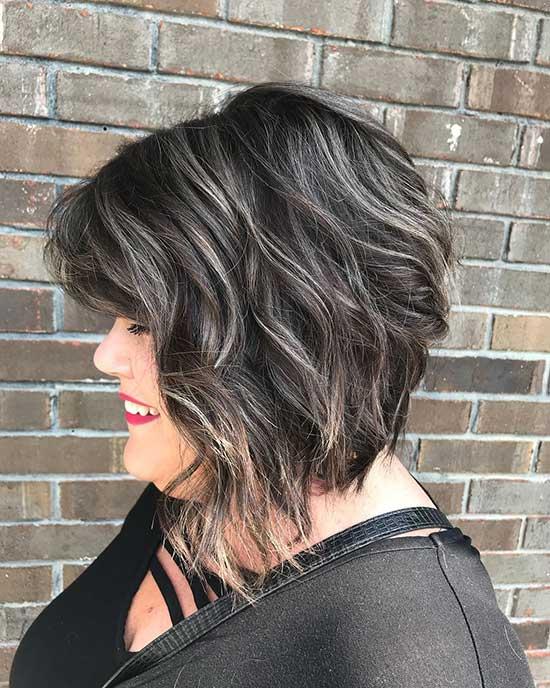 Short Dark Hairstyles for Fat Girls-7
