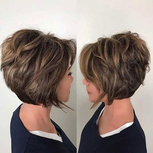 Short Haircuts for Women Over 40 with Thick Hair-9