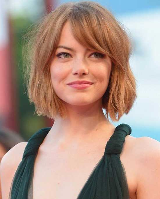Emma Stone Bob Hairstyles for Thin Hair