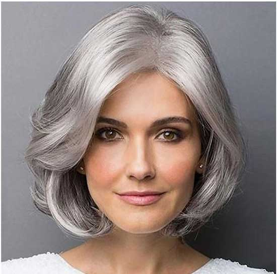Grey Bob Hairstyles for Thin Hair