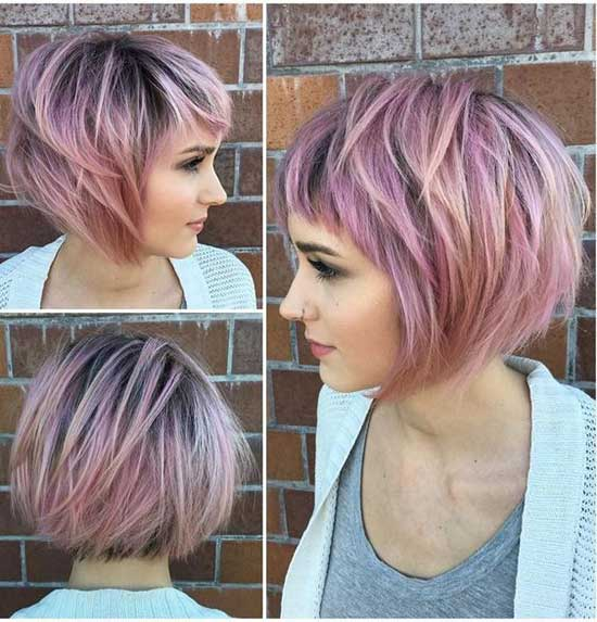 Pink Bob Hairstyles for Thin Hair