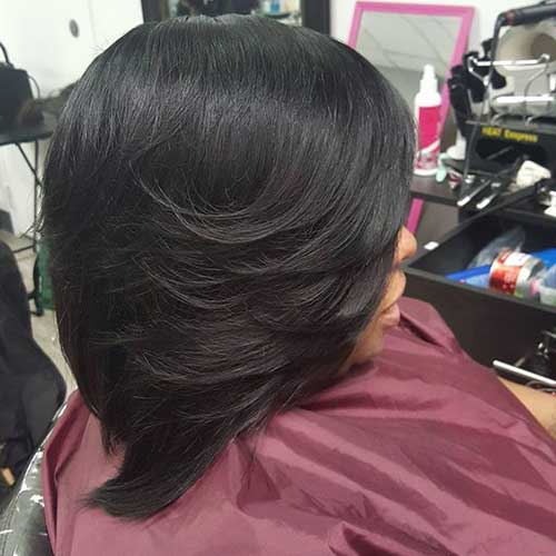 Layered Natural Hairstyles for Short Hair African American