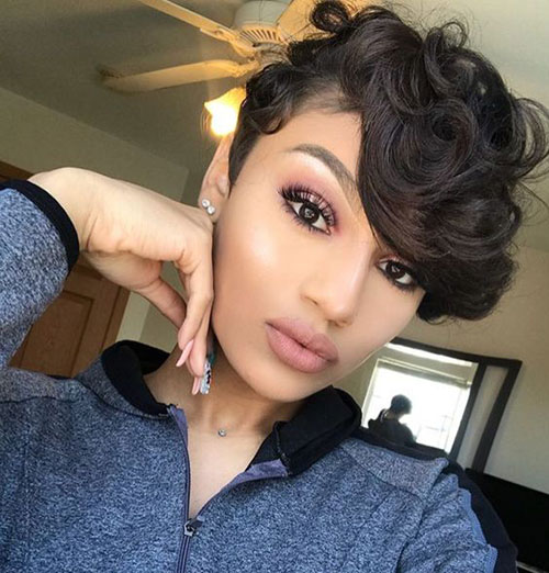 Natural Hairstyles with Bangs for Short Hair African American