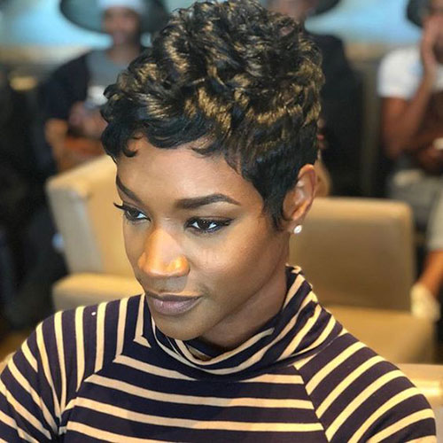 Messy Natural Hairstyles for Short Hair African American