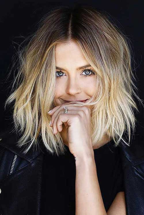 Short Ombre Hairstyles for Wavy Hair-12