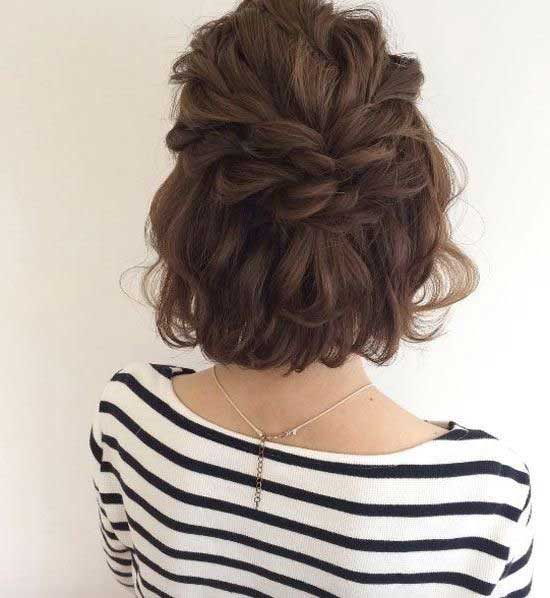 Easy Half Up Half Down Wedding Hairstyles for Short Hair-18