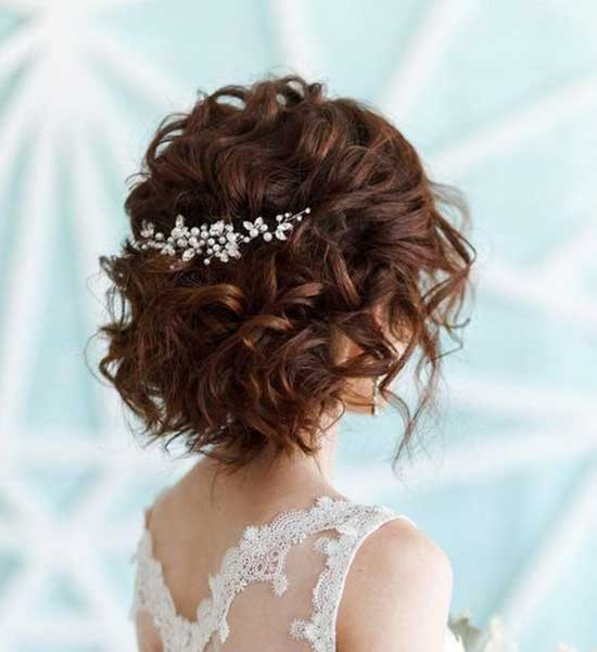 Half Up Half Down Wedding Curly Hairstyles for Short Hair-20