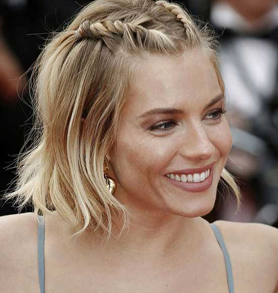 Half Up Half Down Wedding Bob Hairstyles for Short Hair-6