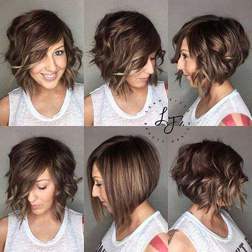 Short Inverted Bob Hairstyles for Wavy Hair-8