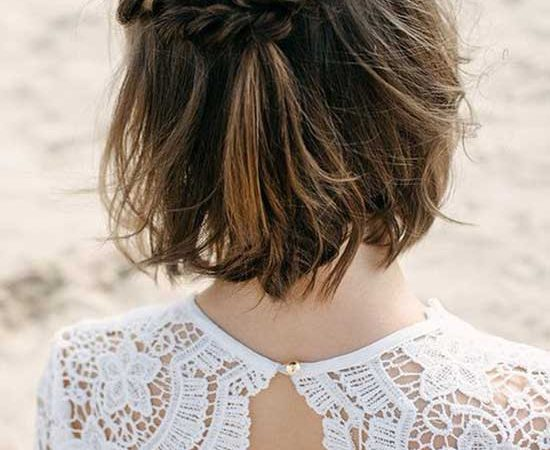 20 New and Elegant Half Up Half Down Wedding Hairstyles for Short Hair