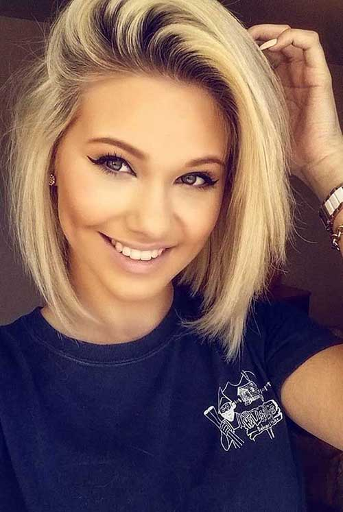 Cute Short To Medium Blonde Hairstyles