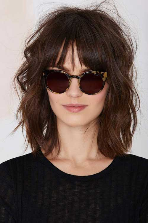 Cute Short To Medium Hairstyles with Bangs
