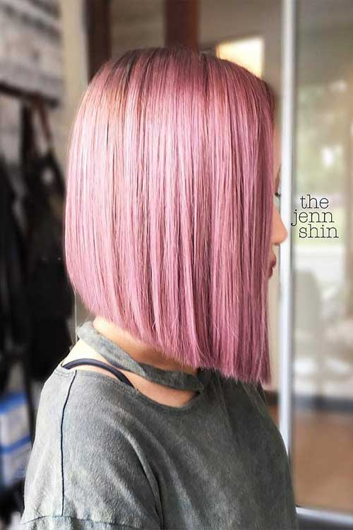 Cute Short To Medium Pink Hairstyles