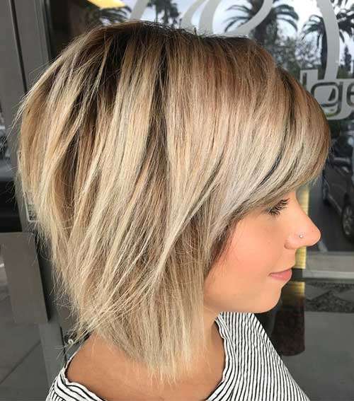 Cute Short To Medium Straight Hairstyles