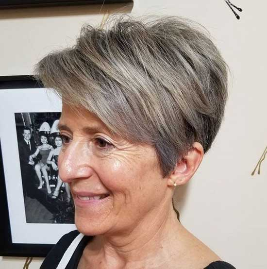 Short Brown Styles for Women Over 60-10