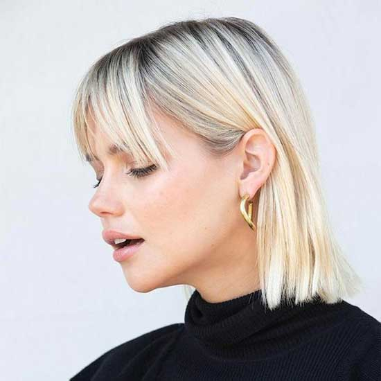 Cute Bob Haircuts with Bangs-11