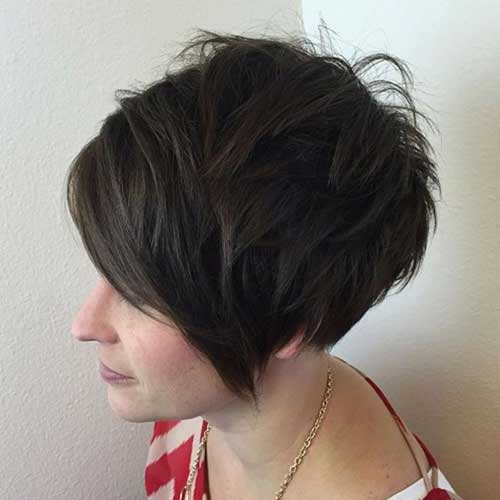 Cute Short Thick Blunt Hairstyles-11