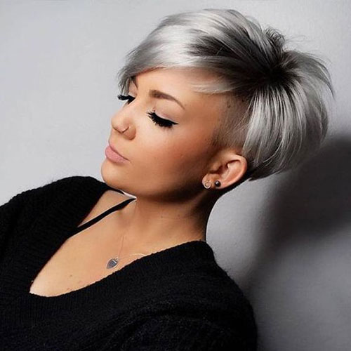 Stylish Grey Pixie Cuts-12