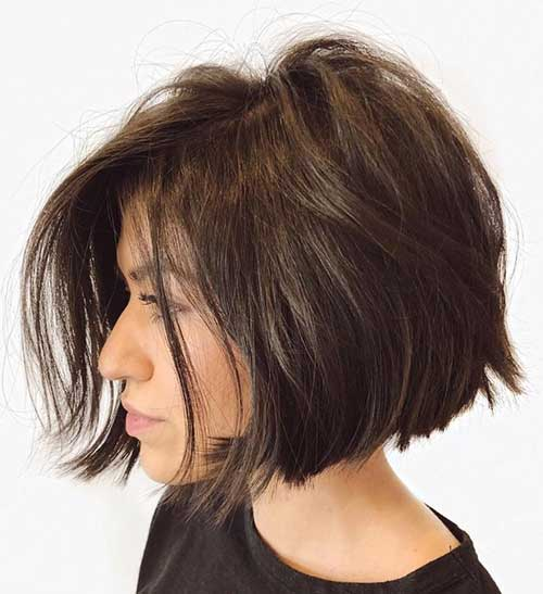 Cute Short Thick Straight Hairstyles-13