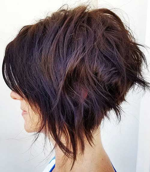 Cute Short Layered Thick Hairstyles-14