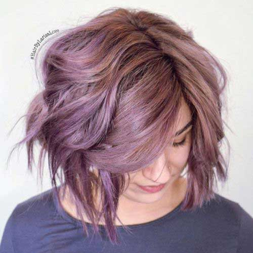 Cute Short Thick Pink Hairstyles-16