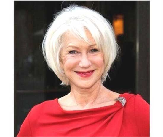 Helen Mirren Short Styles for Women Over 60-20